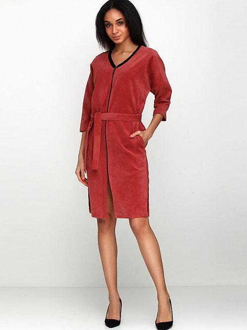 Сукня-кардиган з паском в комплекті