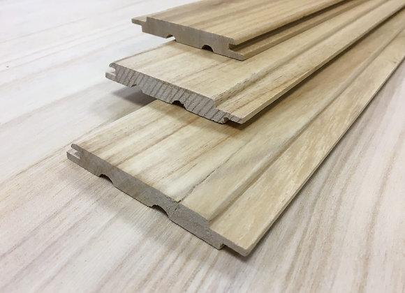 Вагонка из древесины Павловнии с покрытием лаком