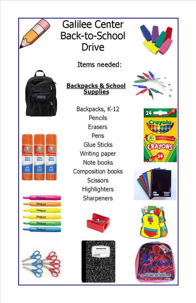 Galilee Center: Back-to-School Drive