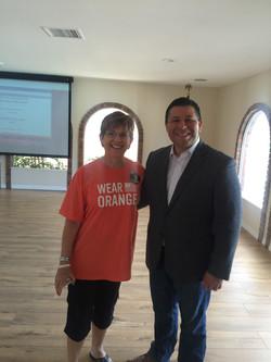 Dori Smith with Eduardo Garcia