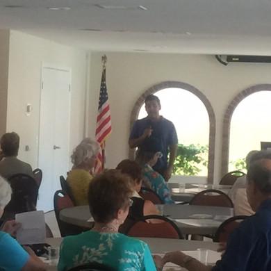 Congressman Ruiz speaks to Democrats of the Desert