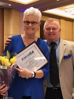 Anita Hoag receives Volunteer of th,