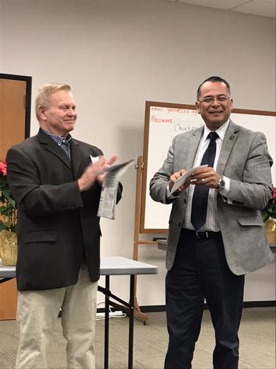 Congratulations Supervisor V. Manuel Perez