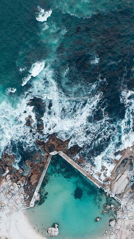 FROM ABOVE   CAMPS BAY TIDAL POOL