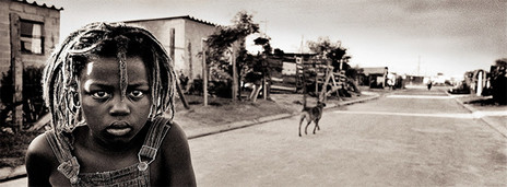 BLACK AND WHITE PANORAMIC   TOWNSHIP BOY by Antti Viitala