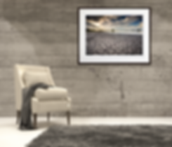 An example of what a landscape photograph and hight quality gallery print can look like when used in a modern interior.
