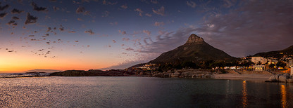 CLASSIC CAPE TOWN   SUNSET OVER LIONS HEAD by Samantha Lee Osner