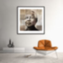 """A creative art portrait of Nelson Mandela called """"Truth of the human heart"""" by photographic artist Samantha Lee Osner"""
