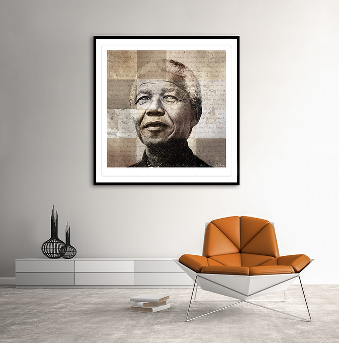 "A creative art portrait of Nelson Mandela called ""Truth of the human heart"" by photographic artist Samantha Lee Osner"