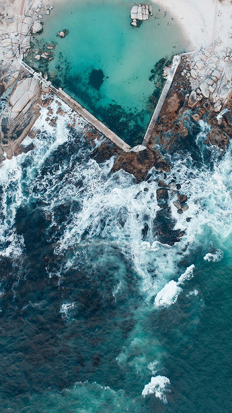 FROM ABOVE | CAMPS BAY TIDAL POOL by Samantha Lee Osner