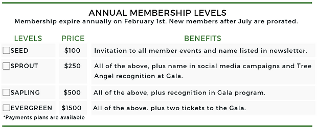 2019 Giving Tree Membership Level Graph_