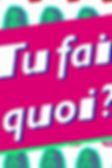 TU FAIS QUOI ?  (On Glamour.fr with Marie Posa)