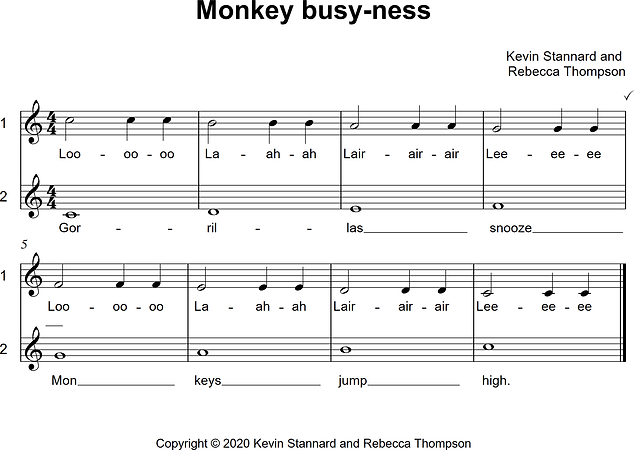 Monkey busy-ness vocal warmup