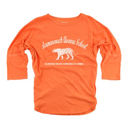 Girls Mamaroneck Avenue School Vintage 3/4 Sleeve Tee