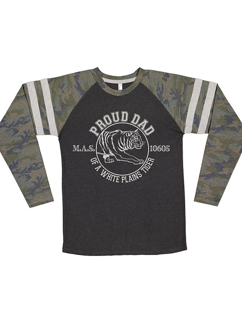 """""""Proud Dad of a White Plains Tiger"""" Long Sleeve"""