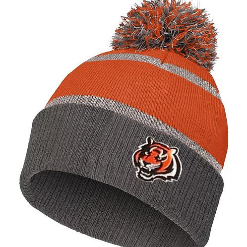 PRE ORDER - Tiger Reflective Pom Pom Winter Hat