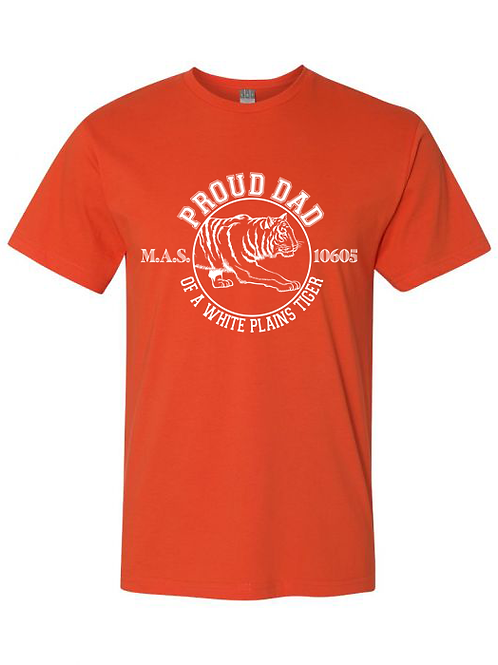 """""""Proud Dad of a White Plains Tiger"""" Vintage Tee"""