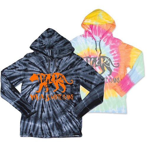 Tie-Dye Long Sleeve Lightweight Pullover with Hood