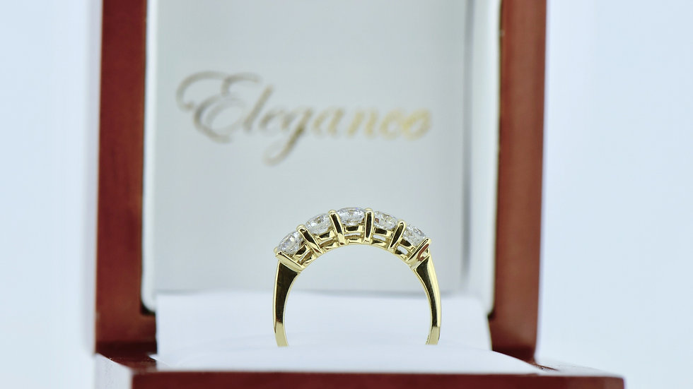 Five Stone Yellow Gold ring