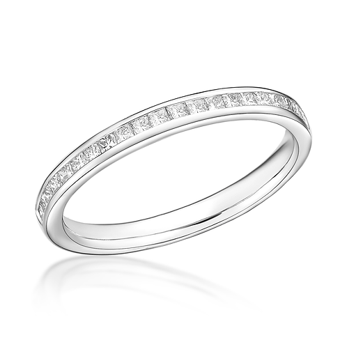 Half Eternity Princess Channel Set 2.4mm ring