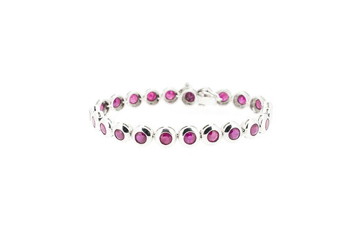 Round Ruby Rubover bracelet