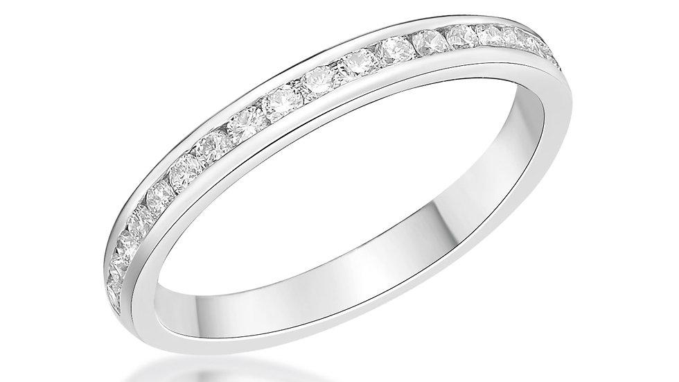 Half Eternity Round Channel Set 2.5mm ring