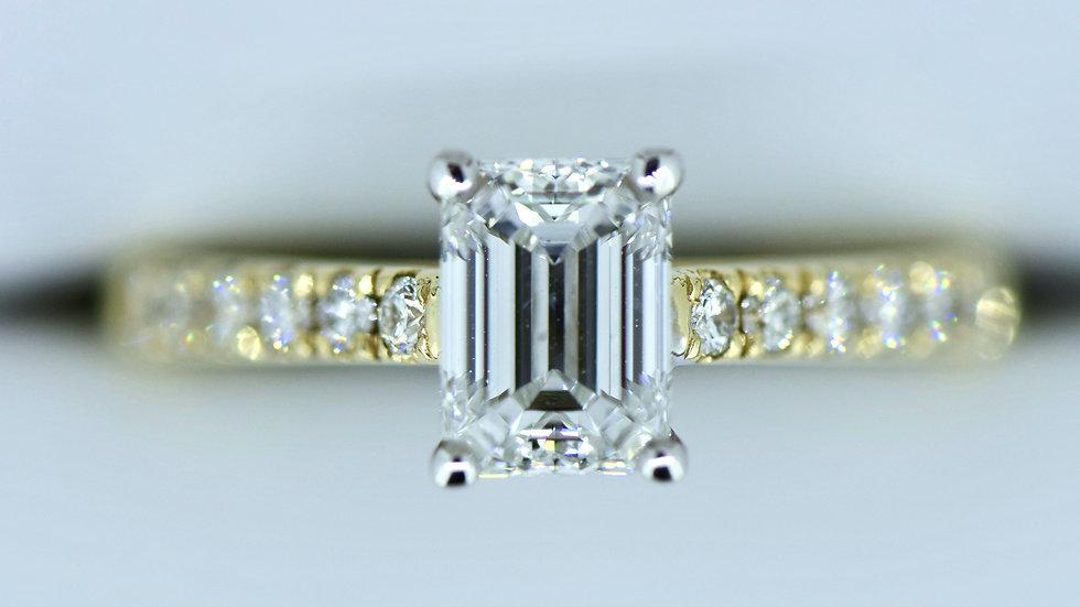 Emerald Cut Micro Set Ring
