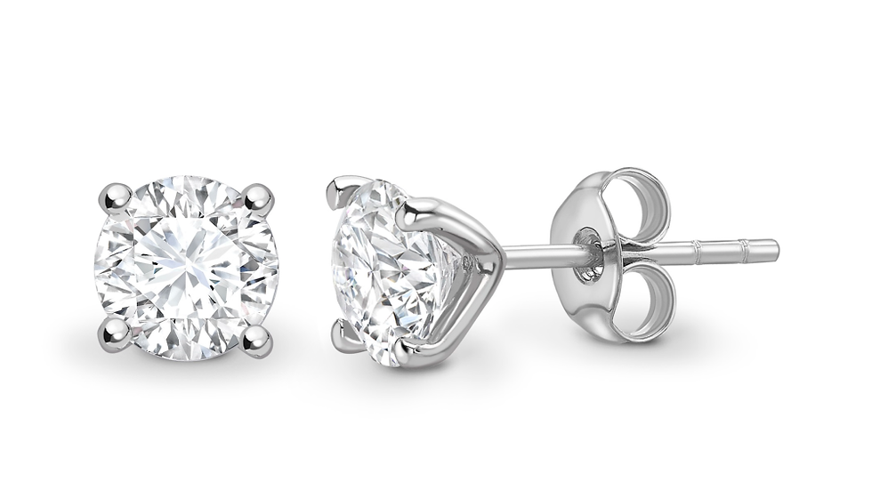 0.20cts four claw open gallery Diamond Earrings