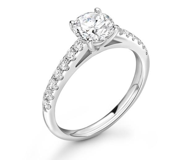 Side Stone Engagement Rings | Hatton Garden | Elegance ...