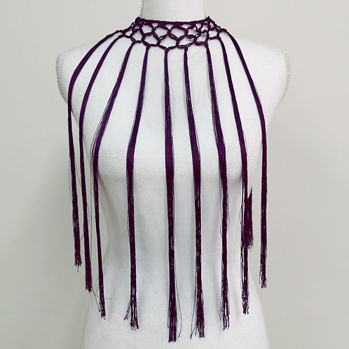 Fleco violeta oscuro