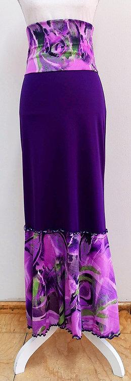 Falda morada con estampado