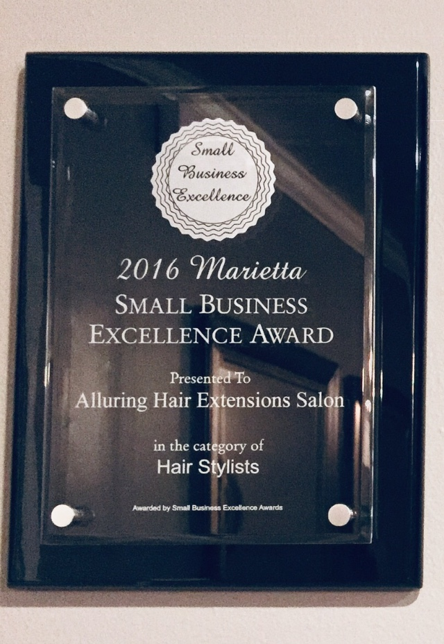 Alluring Hair Extensions of Atlanta wins 2016 Small Business Excellence Award