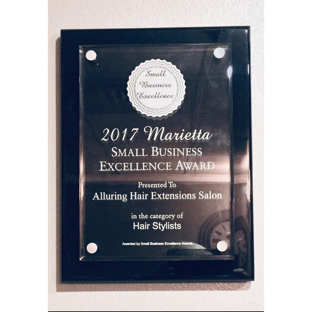 Alluring Hair Extensions of Atlanta wins 2017 Small Business Excellence Award