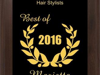 2016 BEST SALON OF MARIETTA AWARD  —  2 CONSECUTIVE YEARS IN A ROW!