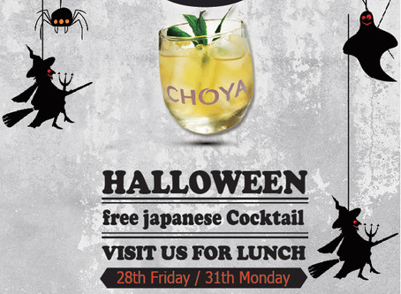 [DARLING PARK] Halloween event / Free Japanese cocktail (28th, 31st, October)