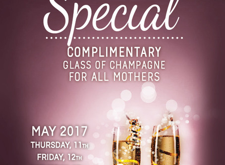 [FORTITUDE VALLEY] Mother's Day - Complimentary glass of champagne (11th~13th, May)