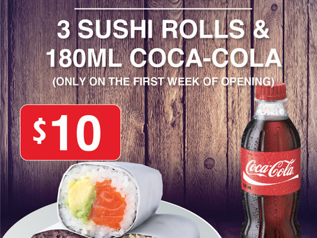 [DOCKLANDS] Special opening meal deal with Coca-Cola company! (6th~10th, March)