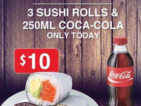 [MAJURA PARK] Happy 5th Birthday Sushi&Nori Majura Park! - Meal deal special
