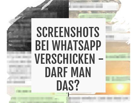Screenshots bei WhatsApp weiterschicken - das kann teuer werden!