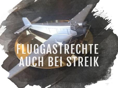 Entschädigung für Fluggäste auch bei Streik!
