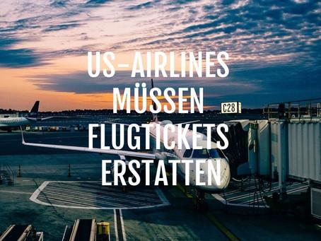 US-Behörde DOT zwingt Airlines zur Erstattung von Flugkosten