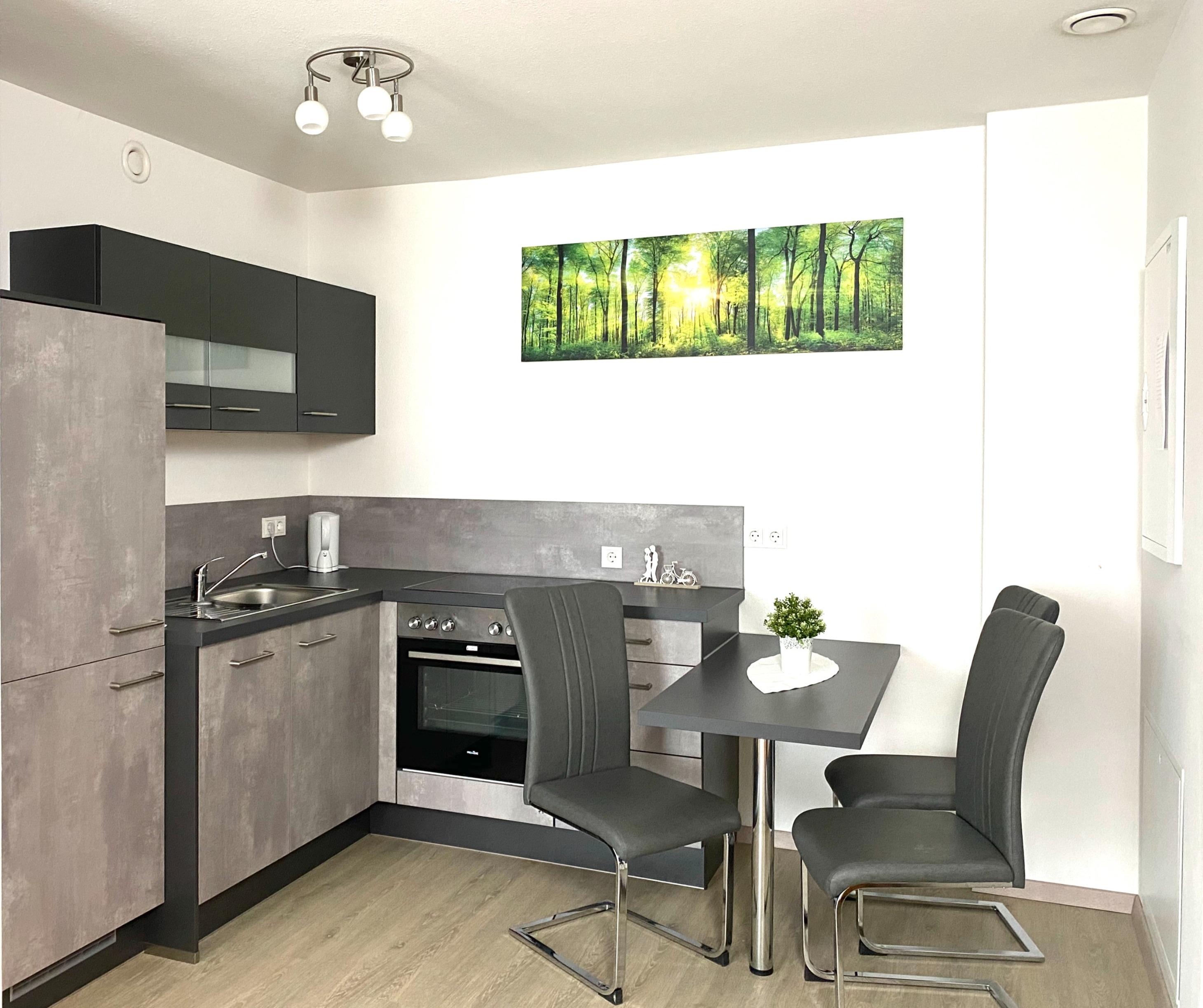 Küche Apartmenthaus Poing