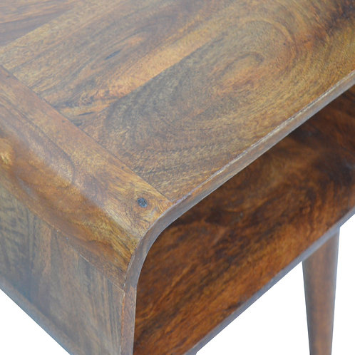Curved Open Bedside Table