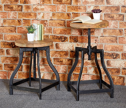 Cosmo Industrial Adjustable Stool