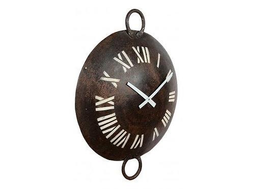 Old Iron Kadai Clock