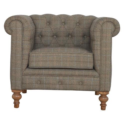 Multi Tweed Chesterfield Armchair