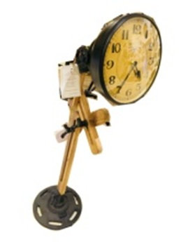 Iron Industrial Lamp Style Clock