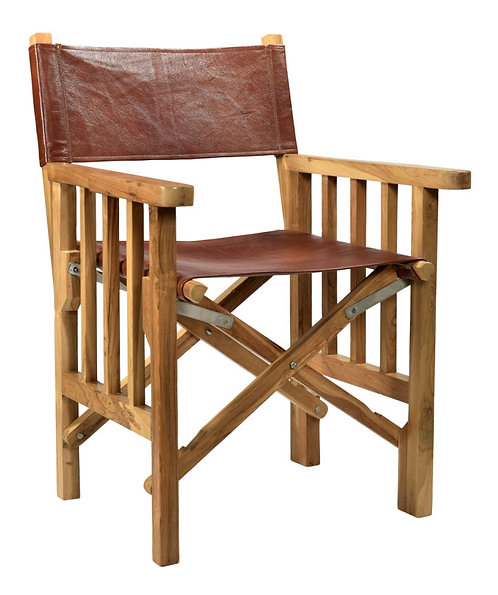Red Leather Wooden Chair