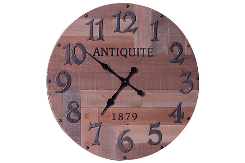 Rustic Reclaimed Round Wooden Clock