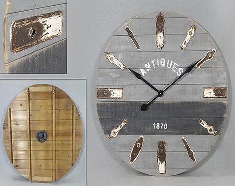 Antique Lock Plate Round Clock